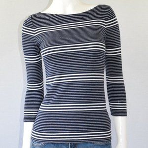 GAP The Bowery Super Soft Boat Neck Striped Top